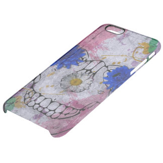 Cráneo, flower power funda clearly™ deflector para iPhone 6 plus de unc
