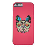 Cráneo Frenchie - rosa del azúcar Funda De iPhone 6 Barely There