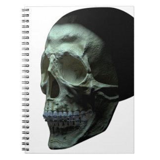 Cráneo - frente - ángulo de tres cuartos libretas
