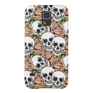 cráneo fresco de la muerte y caja color de rosa carcasa galaxy s5
