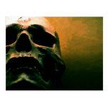 Cráneo fresco del grunge asustadizo postales