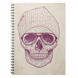 Cráneo fresco libro de apuntes con espiral