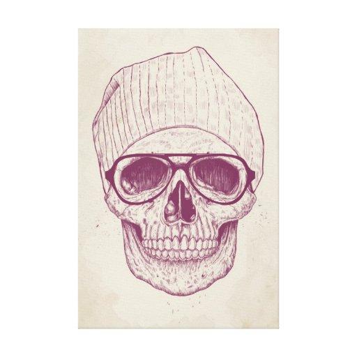 Cráneo fresco lona estirada galerias