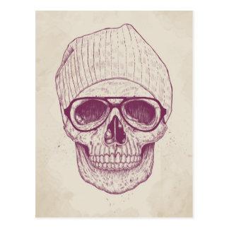 Cráneo fresco tarjeta postal