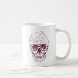 Cráneo fresco taza básica blanca