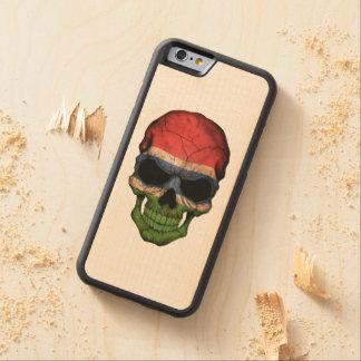 Cráneo gambiano adaptable de la bandera funda de iPhone 6 bumper arce
