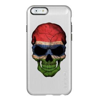 Cráneo gambiano adaptable de la bandera funda para iPhone 6 plus incipio feather shine