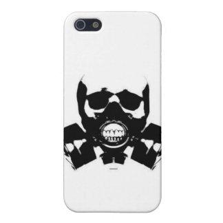 cráneo-gas-máscara-huesos iPhone 5 fundas