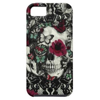 Cráneo gótico del cordón del Victorian con acentos iPhone 5 Fundas