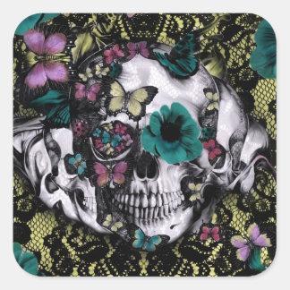 Cráneo gótico del cordón del Victorian con color r Etiquetas