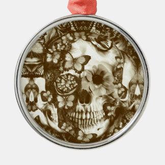 Cráneo gótico del cordón del Victorian Ornamento Para Reyes Magos