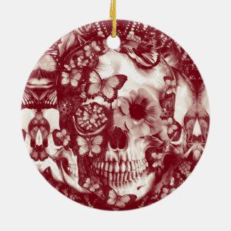 Cráneo gótico del cordón del Victorian Ornamentos De Reyes
