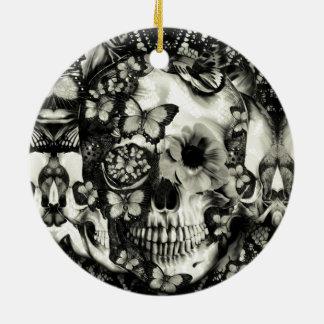 Cráneo gótico del cordón del Victorian Ornamento Para Arbol De Navidad