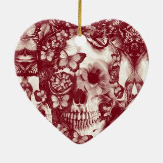 Cráneo gótico del cordón del Victorian Adorno De Navidad