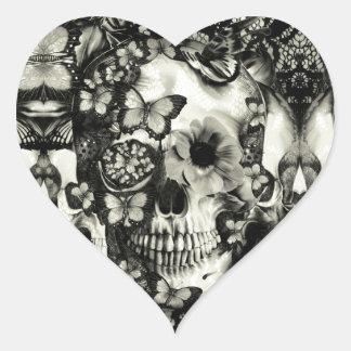 Cráneo gótico del cordón del Victorian Pegatinas
