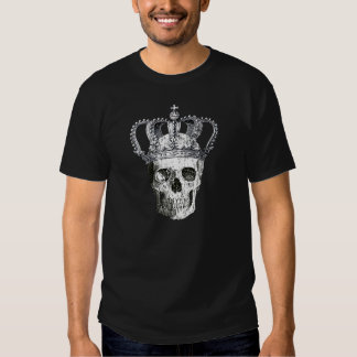 Cráneo gótico del vintage con la camiseta de reyes remeras