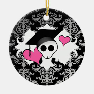 Cráneo gótico lindo de la graduación ornamente de reyes