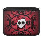 """Cráneo gótico lindo en rojo y el negro 13"""" fundas MacBook"""