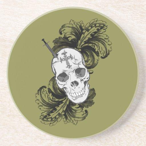 Cráneo gótico posavasos para bebidas