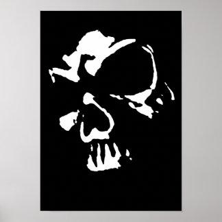 Cráneo gótico póster