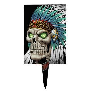 Cráneo gótico tribal indio del nativo americano decoración de tarta