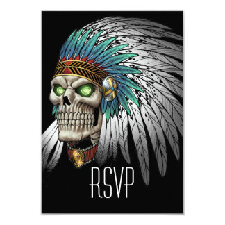 Cráneo gótico tribal indio del nativo americano