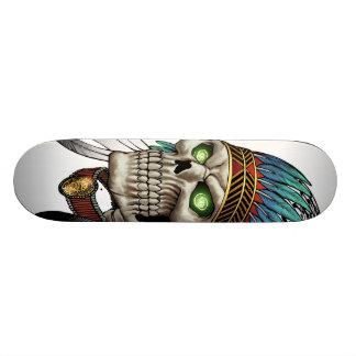 Cráneo gótico tribal indio del nativo americano tabla de skate