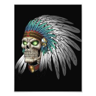 Cráneo gótico tribal indio del nativo americano fotografia