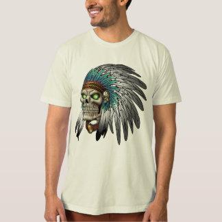 Cráneo gótico tribal indio del nativo americano playera
