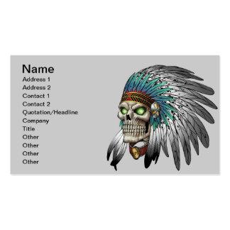 Cráneo gótico tribal indio del nativo americano tarjetas de visita