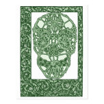 Cráneo Green Day de Nouveau del arte de los muerto Postal