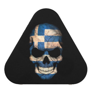 Cráneo griego de la bandera en negro altavoz bluetooth