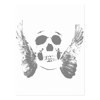 Cráneo gris tarjeta postal