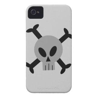 Cráneo gris y caja intrépida de Blackberry de la b
