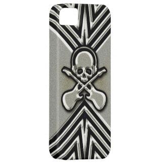 Cráneo, guitarras y auriculares iPhone 5 Case-Mate fundas