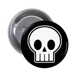 Cráneo Halloween del vector Pins