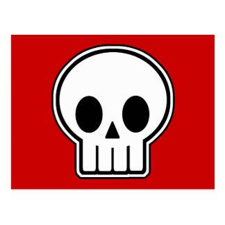 Cráneo Halloween del vector Postal