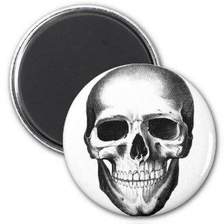 Cráneo Halloween espeluznante asustadizo principal Imán Redondo 5 Cm