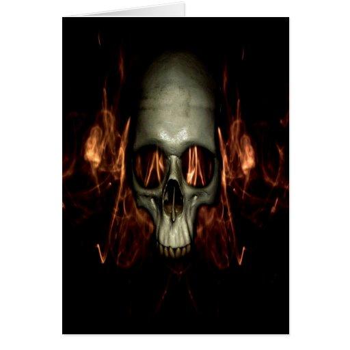 cráneo Halloween Tarjeta De Felicitación
