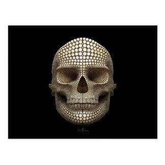 Cráneo hecho de círculos tarjetas postales