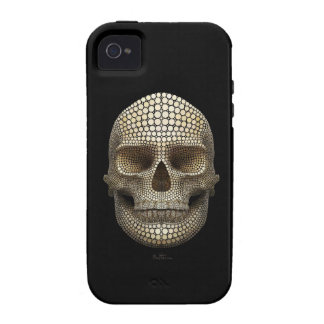 Cráneo hecho de círculos vibe iPhone 4 carcasas
