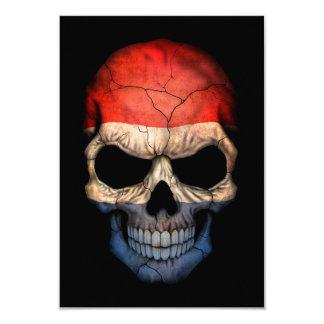 """Cráneo holandés adaptable de la bandera invitación 3.5"""" x 5"""""""