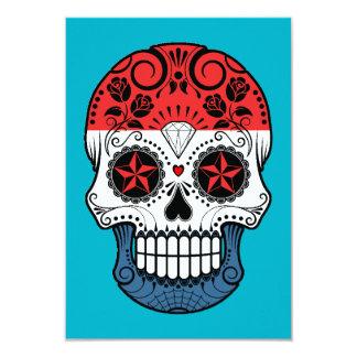 """Cráneo holandés adaptable del azúcar de la bandera invitación 3.5"""" x 5"""""""
