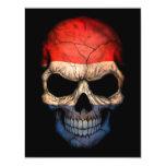 Cráneo holandés de la bandera en negro anuncios personalizados
