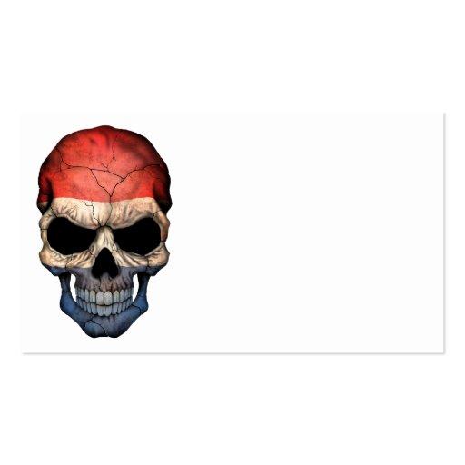 Cráneo holandés de la bandera tarjetas de visita