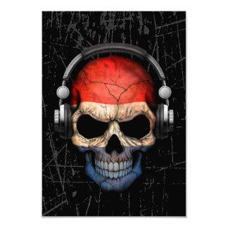 """Cráneo holandés rasguñado de DJ con los Invitación 3.5"""" X 5"""""""