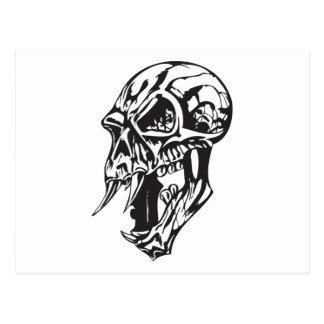 Cráneo humano 141 tarjeta postal