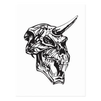 Cráneo humano 153 tarjeta postal
