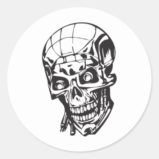 Cráneo humano 159 pegatina redonda