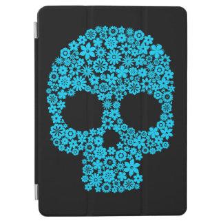 Cráneo humano con los elementos de la flor cover de iPad air
